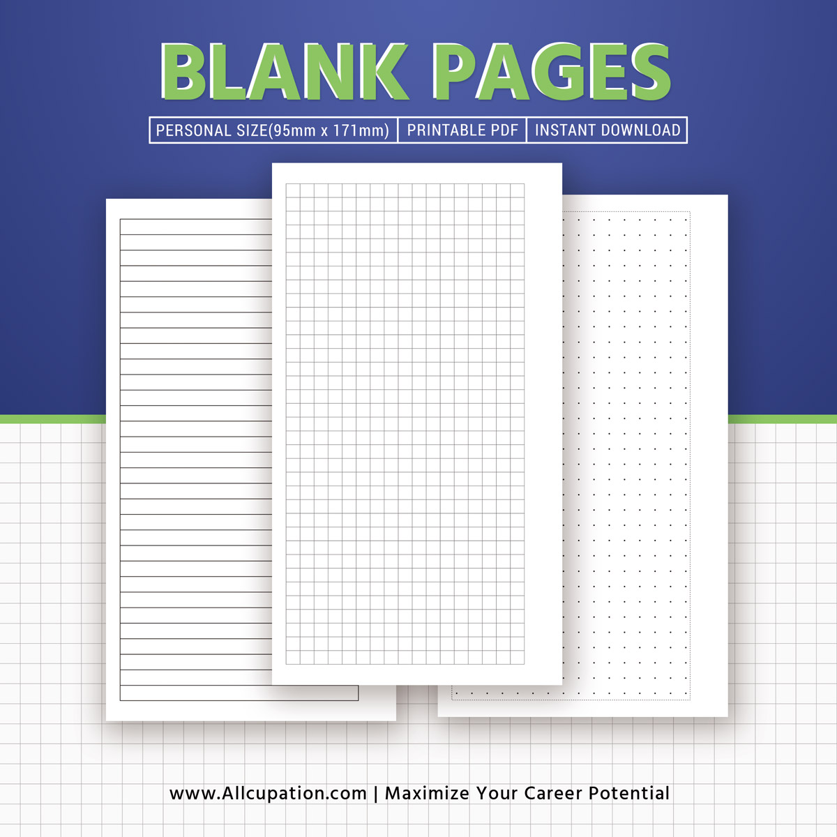 Printable Blank Pages Planner Pages Personal Size Inserts Binder Planner Design Best