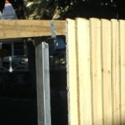 Paling Fence with Galvanised Steel Posts