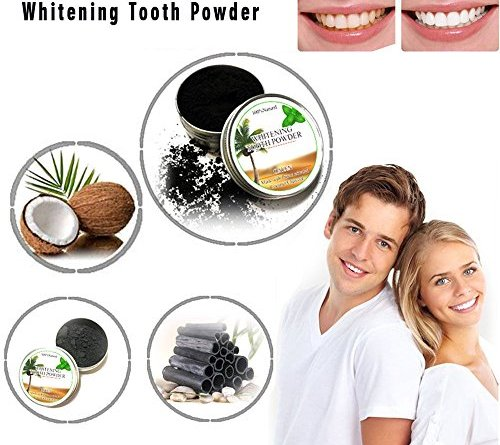 Creazy Teeth Whitening Powder Natural Organic Activated Charcoal Bamboo Toothpaste (e)