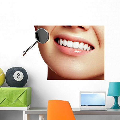 Wallmonkeys WM359229 Healthy Woman Teeth and a Dentist Mouth Mirror Dental Hygiene Wall Decal Peel and  sc 1 st  Dental Products & Wallmonkeys Dental Implant Wall Decal Peel and Stick Graphic (24 in ...
