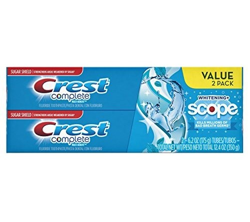 Complete archives all dental products crest complete multi benefit whitening scope toothpaste peppermint flavor 62 oz ea 2 count fandeluxe Gallery