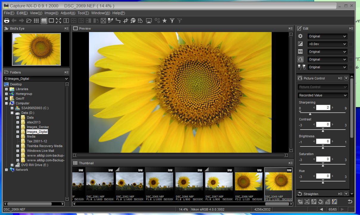 Nikon Capture Nx D In Relaxing Adobe Standard Renders Images