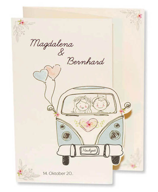 Comic Hochzeit Just Married Im Auto Stock Illustration Getty Images
