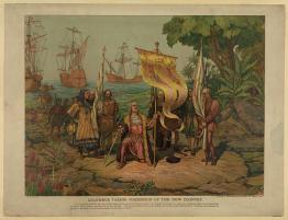 TITLE:  Columbus taking possession of the new country.
