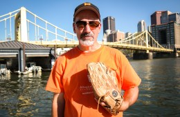 Pittsburgh's Pete Schell says he's probably collected about 300 to 400 baseballs in the 15 years he's been shagging balls outside the Pirates' ballparks. But the dream of catching one on the fly has so far eluded him. Photo: Lou Blouin