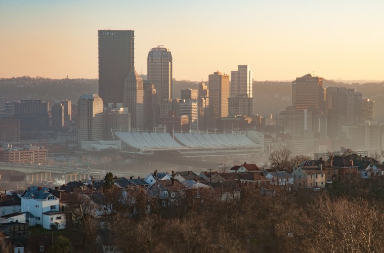 On many days, Pittsburgh's air pollution is hard to ignore. Even with recent improvements in air quality, Allegheny County still does not meet federal air-quality standards for fine-particulate pollution. Photo: Matt Niemi via Flickr