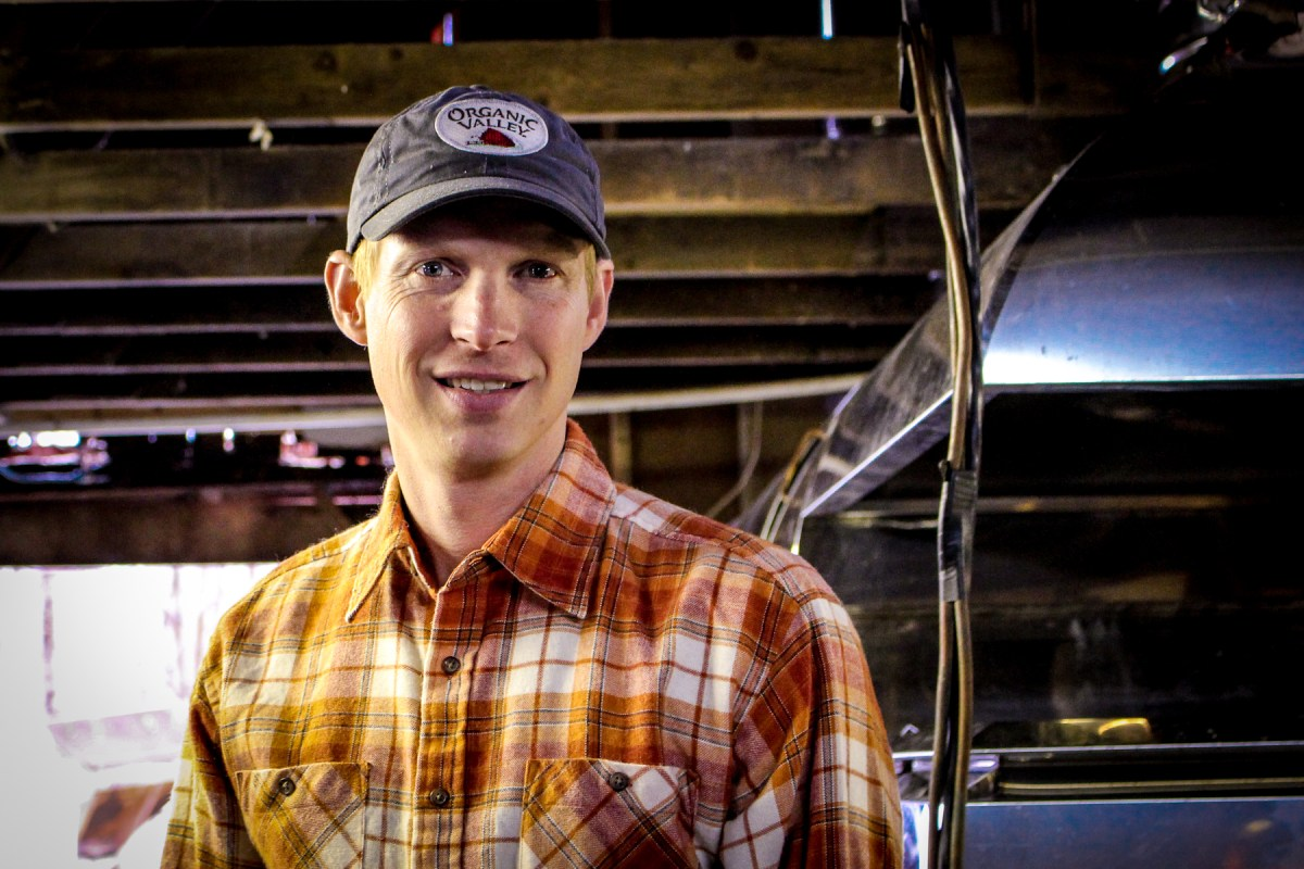Thirty-four-year-old Nathan Goodell is winding down work at his family's sugar shack early this year do to an unusually warm February. Photo: Julie Grant