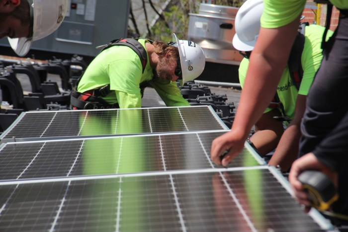 Solar workers
