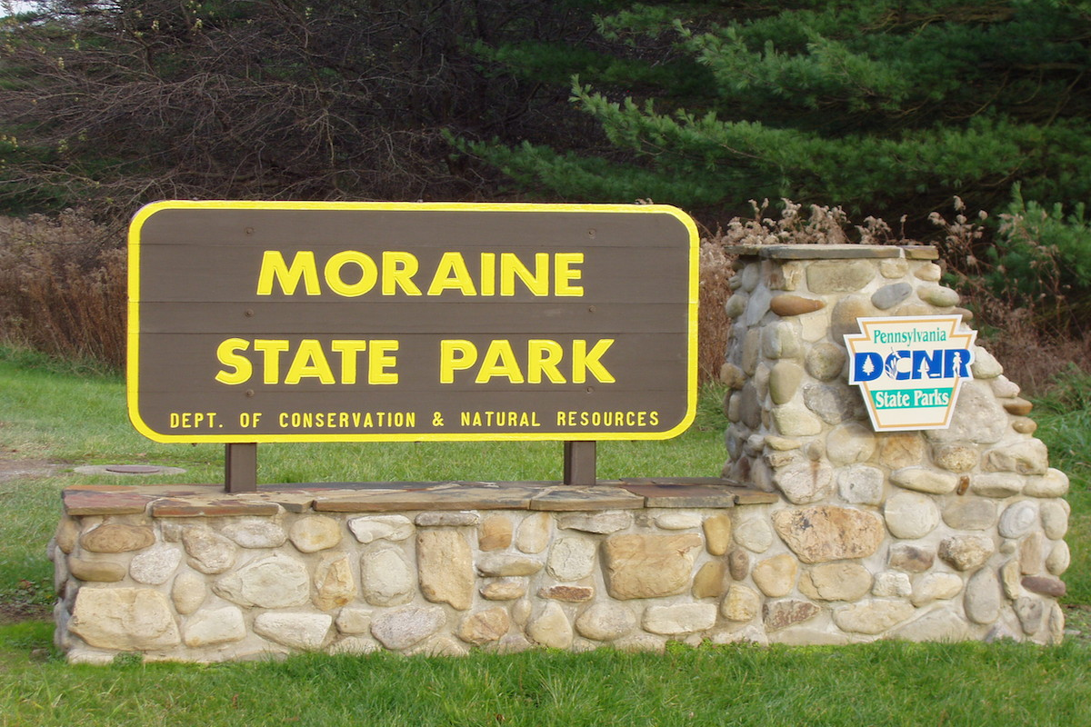 Entrance to Moraine State Park