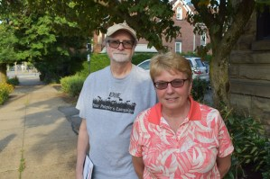 Art Leopold and Janice Etchison became members of Hold Erie Coke Accountable. Photo: Ed Mahon/PA Post