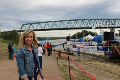 Carrie Ankrom, president of the Marietta Chamber of Commerce, says attracting tourists to events like the Sternwheel Festival is helping to revitalize the city's downtown. (Photo by Julie Grant/The Allegheny Front)
