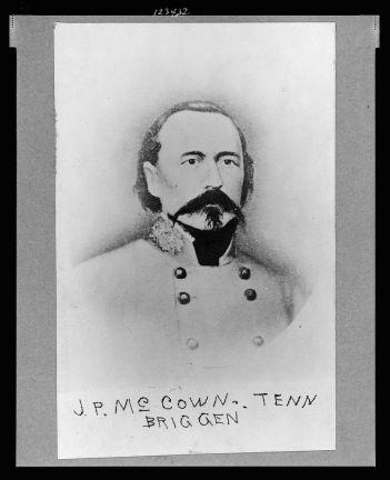 Confederat General John Porter McCown.