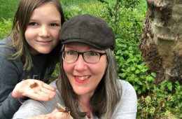 Kathryn Reilly and her daughter Madeline live in Crofton, Maryland where cicadas have emerged in large numbers. They are currently ranked 7th on the Cicada Safari leaderboard. Photo: Kathryn Reilly
