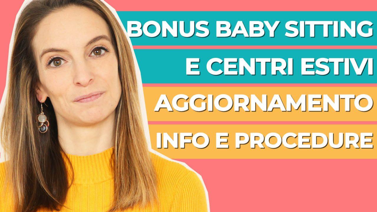 Bonus centri estivi e bonus baby sitting: ultimi aggiornamenti INPS