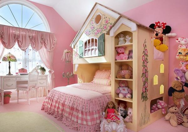 Wandgestaltung kinderzimmer mdchen idee frs
