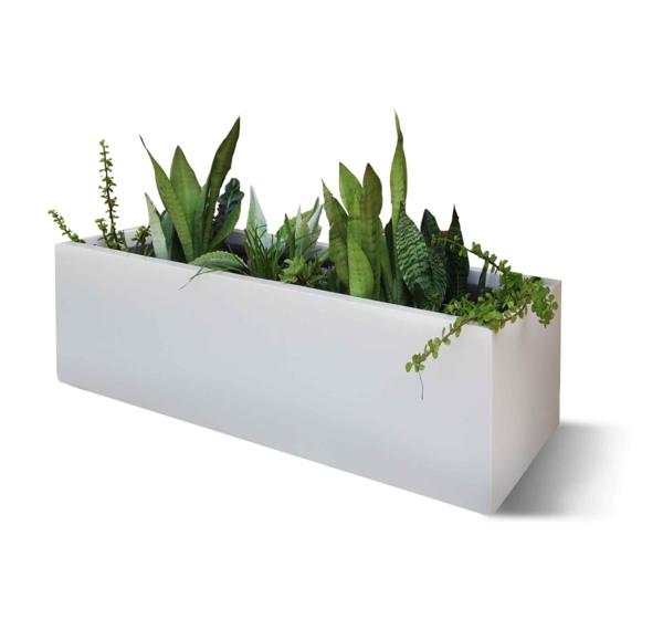 Eleganter Blumenkasten Verschnert Den Auenbereich