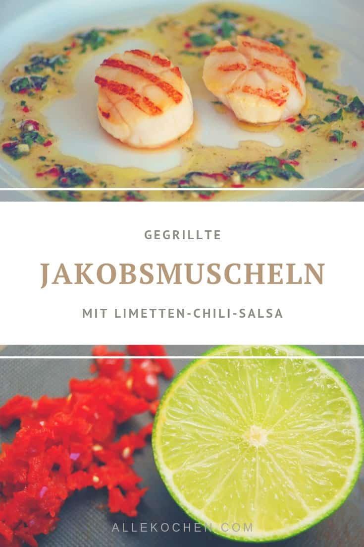 Wer noch eine Vorspeise sucht - hier ist sie: Jakobsmuscheln in Limetten-Chili-Salsa
