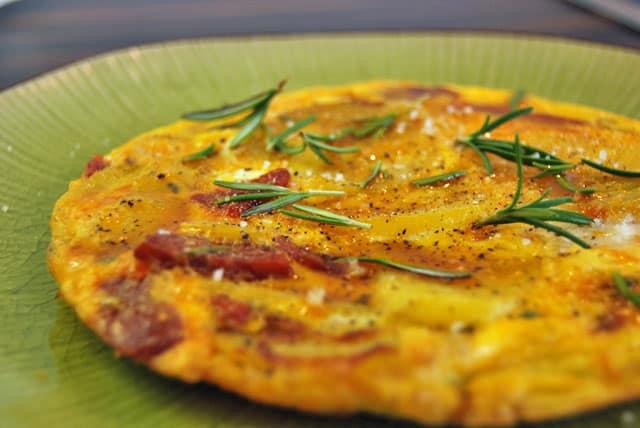 Tolles spanische Tortilla mit Chorizo