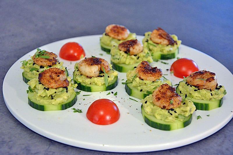 Garnelen-Avocado-Bissen als schnelle Vorspeise