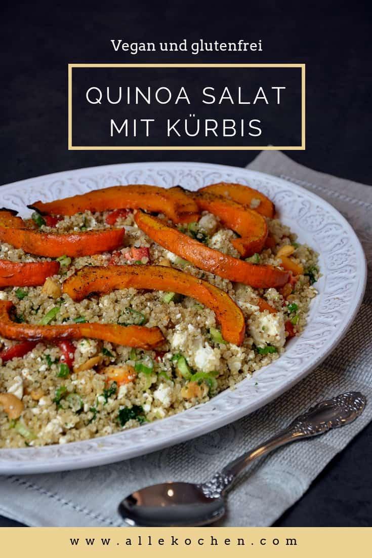 Glutenfreier Quinoa Salat mit Kürbis