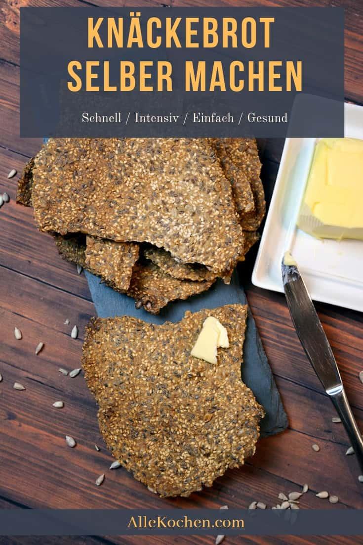 Schnelles Rezept um gesundes und knackiges Knäckebrot selber machen. Voll mit Samen und Kernen. Direkt aus Schweden.