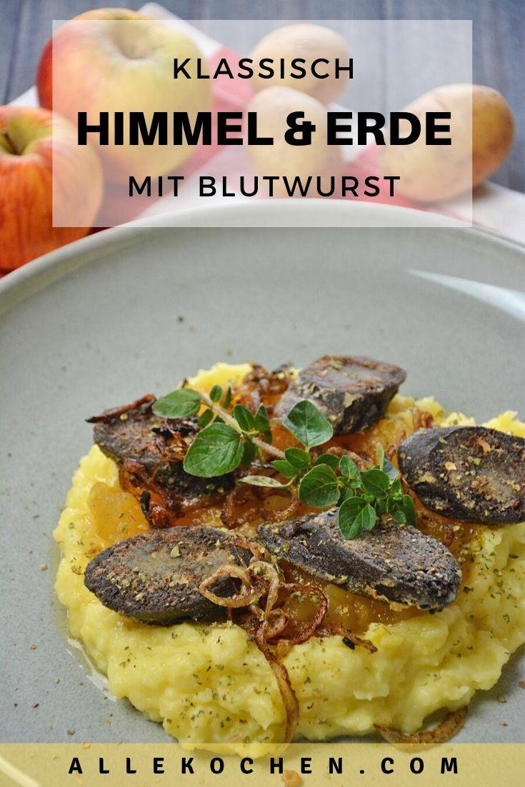 Klassiches Rezept für das traditionelle deutsche Gericht Himmel und Erde mit Blutwurst. Schnell gemacht und schmeckt gut.