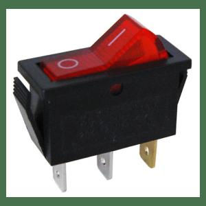 120 VAC LIGHTED ROCKER SWITCH, SPST | All Electronics Corp
