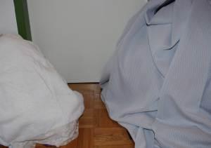 Wäscheberge bei Magen-Darm