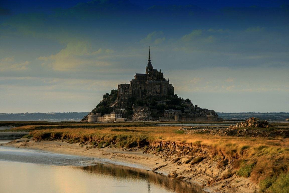 Mont Saint Michel dalla diga