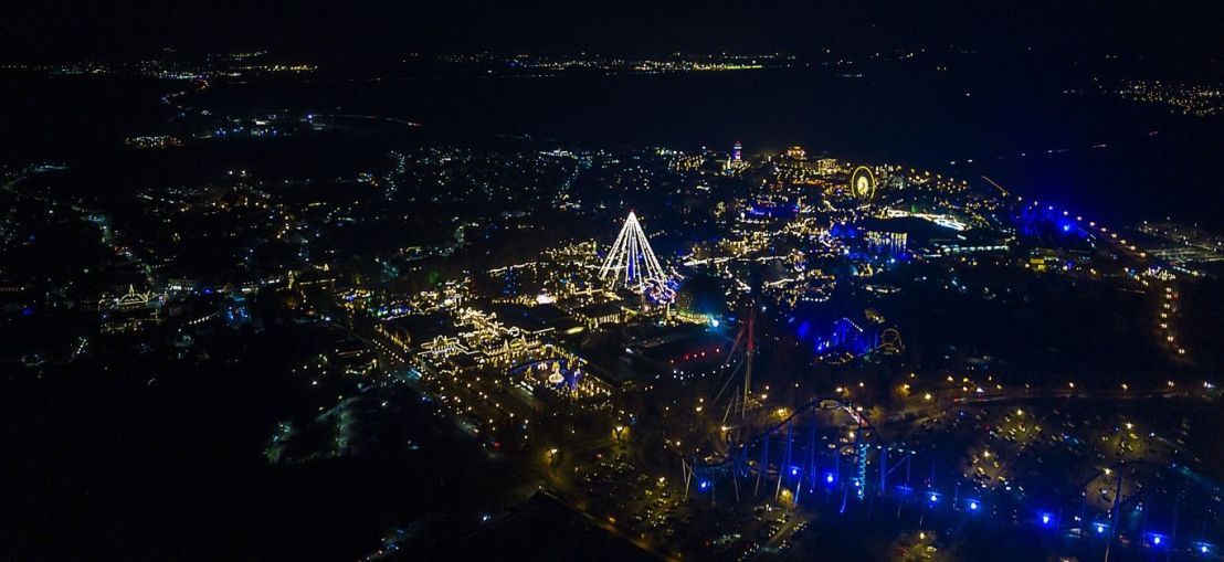 Il parco illuminato a Natale