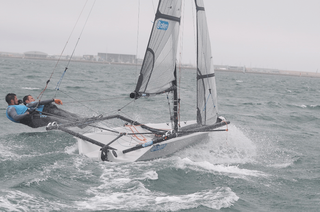 Grey gusty conditions on Day 1 (Photo: Richard Bowers)