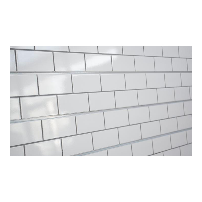 2 h x 8 l textured wall panel subway tile white finish