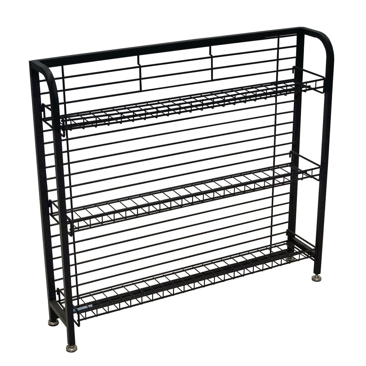 33 H Under Counter Wire Display Rack With 4 6 Shelves