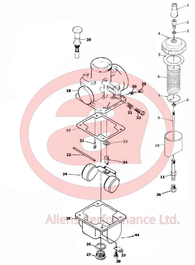 Exploded Diagram Mikuni VM26-606 VM26-665