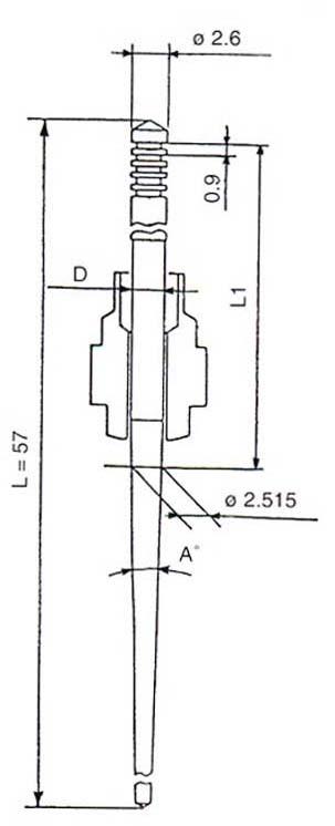 Keihin N427-46 Jet Needle Chart Dimensions