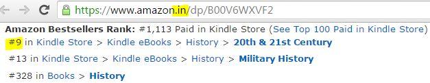 Amazon bestseller, India Literature, India Fiction, India Vietnam War