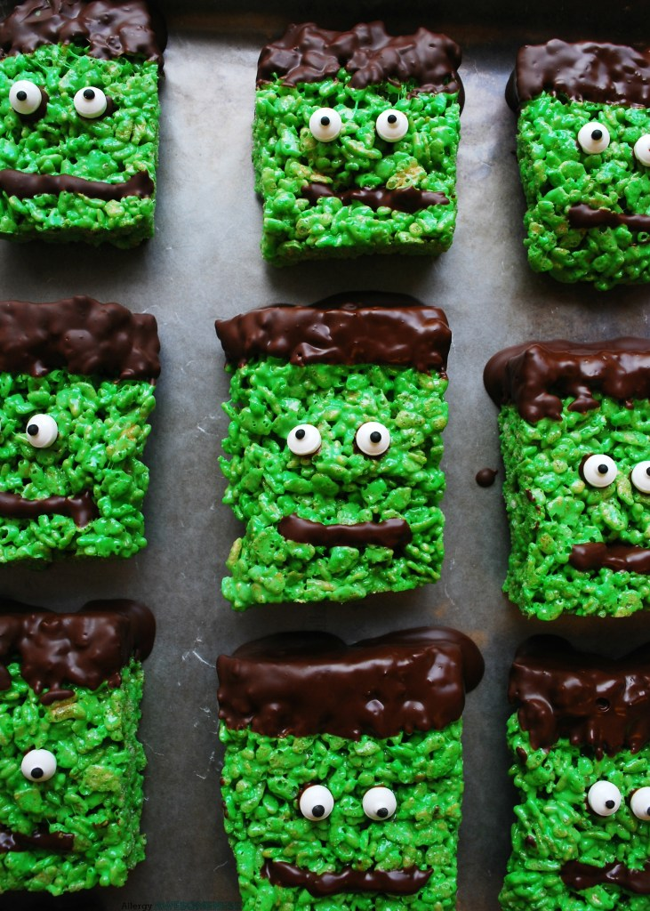 Allergy-friendly Frankenstein Rice Krispies