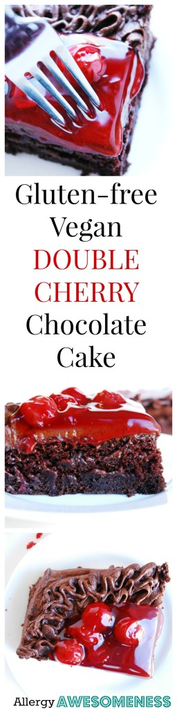 Gluten-free Vegan Cherry Chocolate Cake Dessert Recipe by AllergyAwesomeness