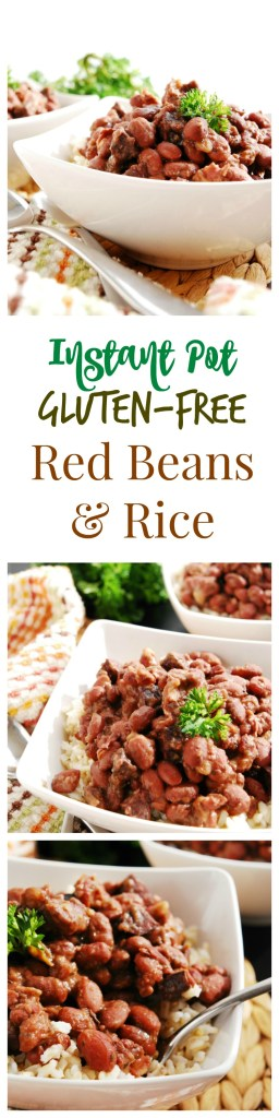 Instant Pot Gluten-free Red Beans and Rice (No soak!) by AllergyAwesomeness