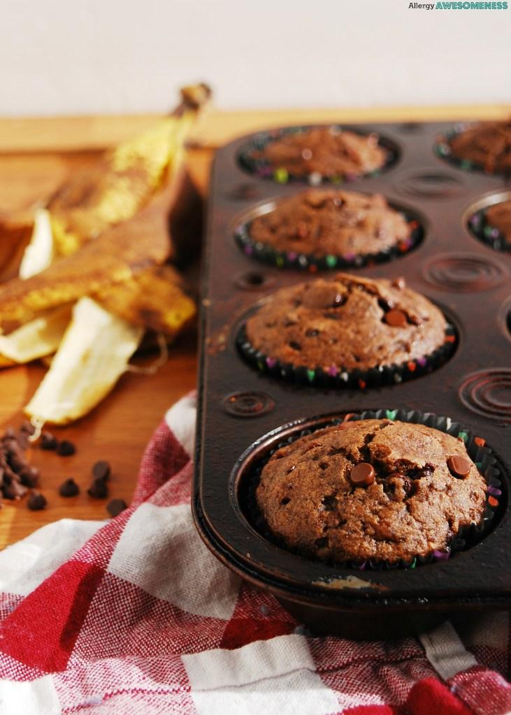 Gluten-free Chocolate Banana Muffins Recipe by Allergy Awesomeness