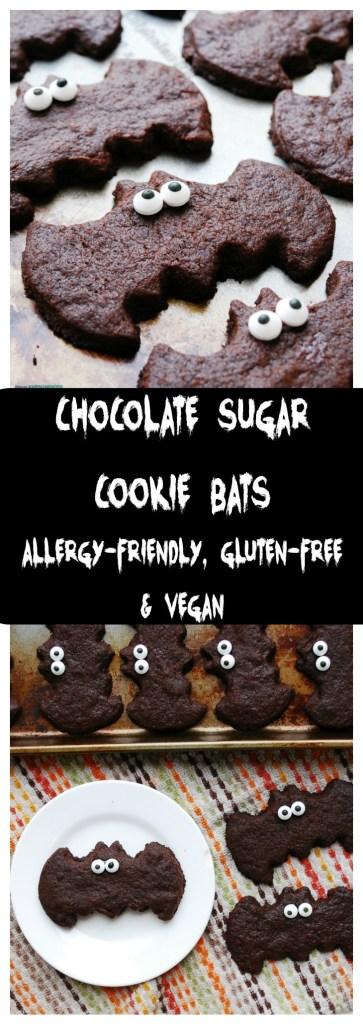 Allergy-friendly Chocolate Sugar Cookie Bats Recipe
