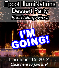 I'm attending the food allergy free Epcot IlumiNations Dessert Party