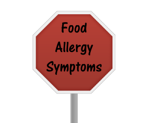 Common symptoms of a food allergic reaction