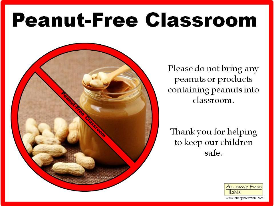 peanut free classroom poster large peanut free classroom poster tall