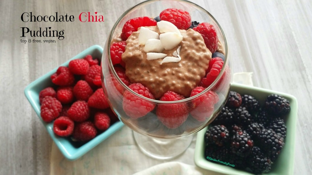 Chocolate chia pudding is a perfectly easy, healthy dessert that everyone will love. Just top with your favorite berries.