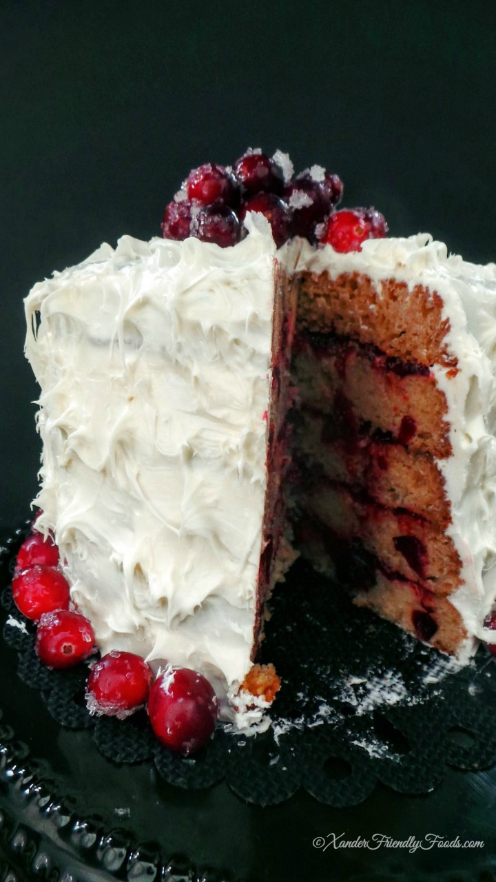 cut Christmas cake