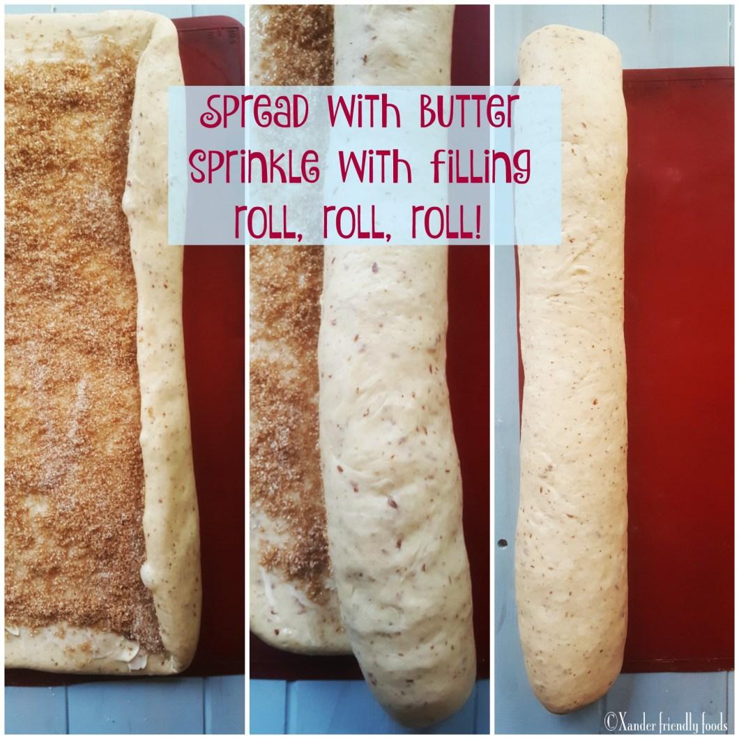 Cinnamon Roll Steps