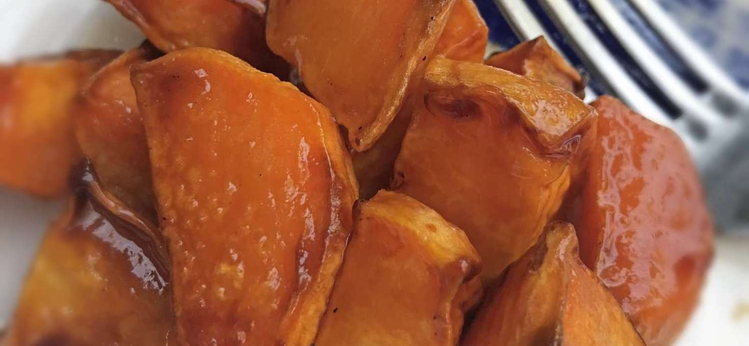 Roasted Maple Sweet Potatoes