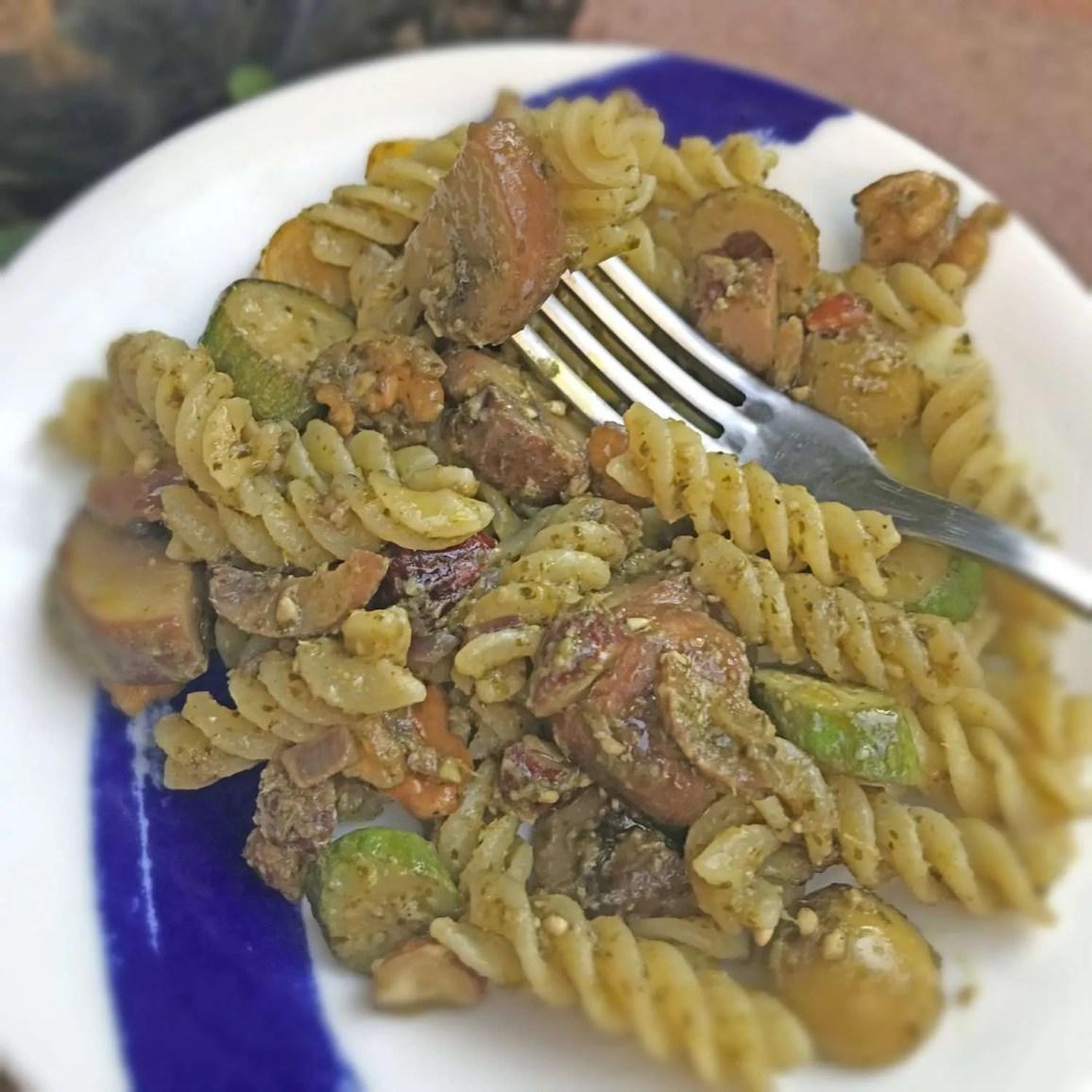 Vegan Pesto and Nut Pasta Sauce
