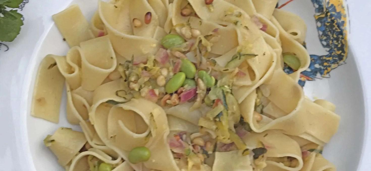 Courgette, Lemon and Edamame Bean Pasta